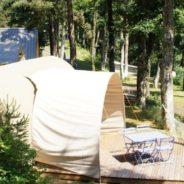 Terrasse de notre mobil home coco sweet