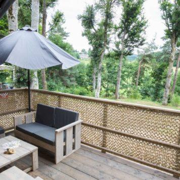 Terrasse de notre Tente Lodge safari premium