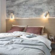 Chambre parentale lit double de notre mobil home cottage Taos F4
