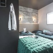 Chambre 2 lits simple de notre mobil home cottage Taos F6
