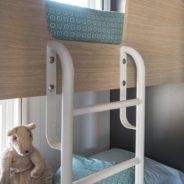 Chambre enfants 2 lits superposés de notre mobil home cottage Taos F6