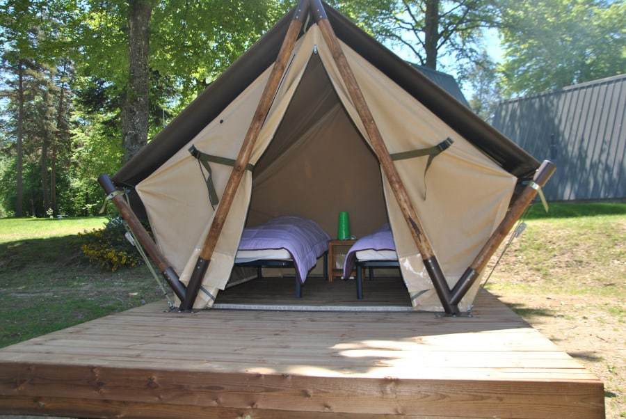 tente nomade camping Les Murmures du Lignon TENCE