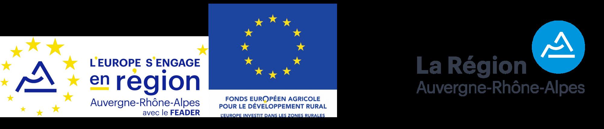 Aide de l'Union Européenne et de la Région Auvergne